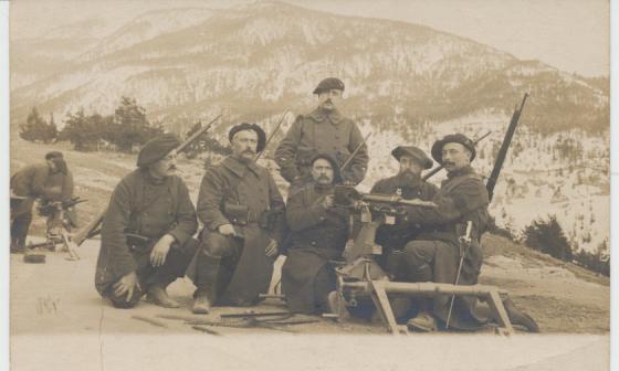 Mitrailleurs du 359e RIA à Briançon en 1915